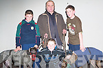 GREYHOUNDS: Michael Reidy (Trainer) with some young friends at the Kingdom Greyhound Stadium, Tralee on Friday night. Pictured l-r: Brian Wall (Ballybunion), Brendan Reidy (Ballyheigue), Michael Reidy, Paula Fitzgerald (Tralee) and Dave O'Donoghue (Knocknagoshel).   Copyright Kerry's Eye 2008