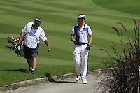 Joost Luiten (NED) and his caddy Martin Gray walk to the 14th hole during Sundays Final Round 3 of the 54 hole Iskandar Johor Open 2011 at the Horizon Hills Golf Resort Johor, Malaysia, 19th November 2011 (Photo Eoin Clarke/www.golffile.ie)