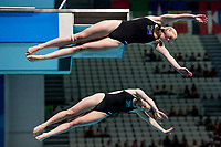 BOUTER Micaela, GILLIS Nicole RSA<br /> Diving <br /> Women's 3m Synchro Springboard Preliminary<br /> Day 04 17/07/2017 <br /> XVII FINA World Championships Aquatics<br /> Duna Arena Budapest Hungary July 15th - 30th 2017 <br /> Photo @A.Masini/Deepbluemedia/Insidefoto