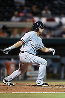 Tampa Yankees outfielder Mark Payton (22) at bat during a game against the Lakeland Flying Tigers on April 9, 2015 at Joker Marchant Stadium in Lakeland, Florida.  Tampa defeated Lakeland 2-0.  (Mike Janes/Four Seam Images)