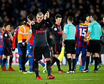 Arsenal's Jack Wilshere waves to the Arsenal fans at the final whistle during the premier league match at Selhurst Park Stadium, London. Picture date 28th December 2017. Picture credit should read: David Klein/Sportimage