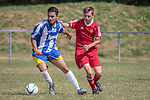 Sway FC U18's VS Parley FC U18's Pre-Season Friendly. Photo by: Stephen Smith<br /> <br /> Sway FC U18's VS Parley FC U18's Pre-Season Friendly - Sunday 9th August 2015. Jubilee Fields, Sway, Hampshire, United Kingdom.