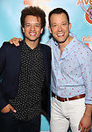 Damon Gillespie and John Tartaglia attends the 'Avenue Q' - 15th Anniversary Performance Celebration at Novotel on July 31, 2018 in New York City.