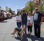 The Mclemore family during the Hot August Nights Spring Fever event in downtown Reno, Nevada on Friday, May 18, 2018.