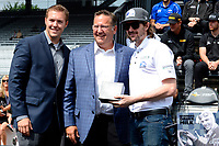 Verizon IndyCar Series<br /> Indianapolis 500 Drivers Meeting<br /> Indianapolis Motor Speedway, Indianapolis, IN USA<br /> Saturday 27 May 2017<br /> Starter's ring presentation: JR Hildebrand, Ed Carpenter Racing Chevrolet<br /> World Copyright: F. Peirce Williams