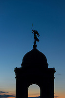Winged Victory  statue atop the State of Pennsylvania Monument, Gettysburg National Military Park, Pennsylvania, USA