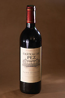 A bottle of Chateau de Pez, 2002, Saint Estephe, Medoc, Bordeaux