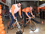 Derek Primrose and Shane Weldon who took part in the Cyclathon to raise funds for Cycle Against Suicide held in Scotch hall. Photo:Colin Bell/pressphotos.ie
