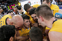 Herbalife Gran Canaria's players celebrate the victory after Spanish Basketball King's Cup match.February 07,2013. (ALTERPHOTOS/Acero)