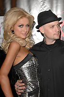 """Paris Hilton and Benji Madden at the premiere of """"Repo"""" at The Mezz Showroom inside Planet Hollywood in Las vegas, Nevada."""