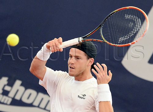 29.07.2015. Hamburg, Germany.  Diego Schwartzman from Argentina playing in the ATP tennis tournament in the first round against Cuevas from Uruguay., 29 July 2015.