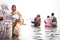 Indian women take a bath on the Dead Sea,  the waters of which are renowned for its health benefits. Palestinian Territory