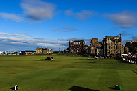 The 18th during Round 3 of the Alfred Dunhill Links Championship 2019 at St. Andrews Golf CLub, Fife, Scotland. 28/09/2019.<br /> Picture Thos Caffrey / Golffile.ie<br /> <br /> All photo usage must carry mandatory copyright credit (© Golffile | Thos Caffrey)