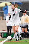 Palos Verdes, CA 01/26/10 - Carly Brahim (28) in action during the Mira Costa vs Palos Verdes Girls Varsity soccer game at Palos Verdes High School.