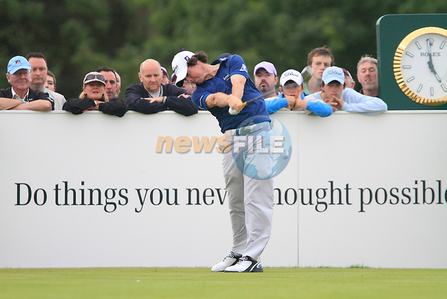 Rory McIlroy tees off on the 18th tee during Day 2 of the 3 Irish Open at the Killarney Golf & Fishing Club, 30th July 2010..(Picture Eoin Clarke/www.golffile.ie)
