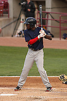 Cedar Rapids Kernels shortstop Nick Gordon (5) at bat during a game against the Wisconsin Timber Rattlers on May 4th, 2015 at Fox Cities Stadium in Appleton, Wisconsin.  Cedar Rapids defeated Wisconsin 9-3.  (Brad Krause/Four Seam Images)