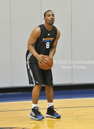 Washington, DC - December 31, 2009 -- Washington Wizards guard Javaris Crittenton (8) works following the team's practice at the Verizon Center in Washington, D.C. on Thursday, December 31, 2009..Credit: Ron Sachs / CNP.(RESTRICTION: NO New York or New Jersey Newspapers or newspapers within a 75 mile radius of New York City)