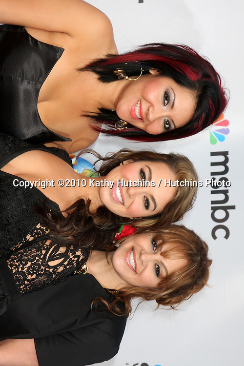 "Raquel ""Raq-C"" Cordova, Janney ""Chiquis"" Marin and Jenni Rivera.arrives at ""An Evening with NBC Universal"" 2010.Universal Studios Hollywood.Los Angeles, CA.May 12, 2010.©2010 Kathy Hutchins / Hutchins Photo.."