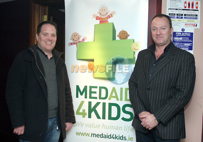 Richard Ryder and Patrick Wynne of MedAid 4 Kids in McHughs..Photo NEWSFILE/Jenny Matthews.(Photo credit should read Jenny Matthews/NEWSFILE)....This Picture has been sent you under the condtions enclosed by:.Newsfile Ltd..The Studio,.Millmount Abbey,.Drogheda,.Co Meath..Ireland..Tel: +353(0)41-9871240.Fax: +353(0)41-9871260.GSM: +353(0)86-2500958.email: pictures@newsfile.ie.www.newsfile.ie.FTP: 193.120.102.198.