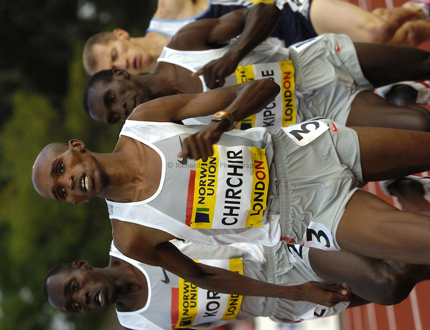 Photo: Richard Lane..Norwich Union London Grand Prix Athletics at Crystal Palace. 30/07/2004..Cornelius Chirchir runs in the Emsley Carr Mile.