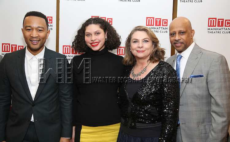 John Legend, Azula Carmen Wilson, Constanza Romero and Ruben Santiago-Hudson  attends August Wilson's 'Jitney' Broadway opening night after party at Copacabana on January 19, 2017 in New York City.
