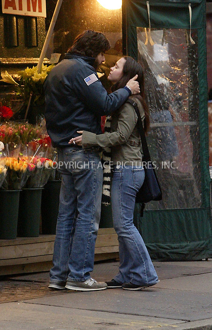 *** NON-EXCLUSIVE ***..Christina Ricci and boyfriend actor/director Adam Goldberg sharing romantic smooch while taking a walk in SoHo. Ricci (23), who began dating Goldberg (32) in January 2003, recently starred in the movie, 'Love Your Work,' directed by her boyfriend. New York, November 11, 2003. Please byline: NY Photo Press.   ..*PAY-PER-USE*      ....NY Photo Press:  ..phone (646) 267-6913;   ..e-mail: info@nyphotopress.com