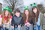 CHEERING: Anna Carmody,Sean McElligott,Stella McElligott and Megan McCarthy cheering on the floats on at the St Patrick's Day Parade in Kilflynn.