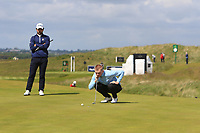 Jensen Hull (Hever Castle) on the 4th green during Round 1 of the The Amateur Championship 2019 at The Island Golf Club, Co. Dublin on Monday 17th June 2019.<br /> Picture:  Thos Caffrey / Golffile<br /> <br /> All photo usage must carry mandatory copyright credit (© Golffile | Thos Caffrey)