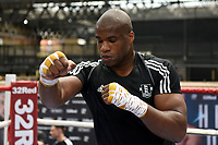 Daniel Dubois during a Public Workout at Old Spitalfields Market on 9th July 2019