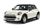 2015 MINI Cooper Hardtop S 4 Door Hatchback Angular Front stock photos of front three quarter view