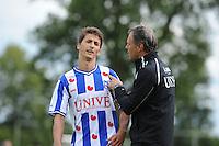 VOETBAL: DE KNIPE: Read Swart-complex, 21-07-2012, Oefenwedstrijd SC Heerenveen - K. Beerschot AC, Filip Djuricic (#9), trainer Marco van Basten, ©foto Martin de Jong