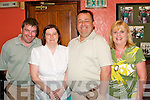 40th Birthday: Theresa Griffin, Marian Park, Tralee (2nd from left) celebrated her 40th birthday in Kirbys Brogue Inn last Friday night with her husband Donie and friends Bernard and Noreen Lynch..
