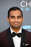 Aziz Ansari attends the 23rd Annual Critics' Choice Awards at Barker Hangar in Santa Monica, Los Angeles, USA, on 11 January 2018. Photo: Hubert Boesl - NO WIRE SERVICE - Photo: Hubert Boesl/dpa /MediaPunch ***FOR USA ONLY***