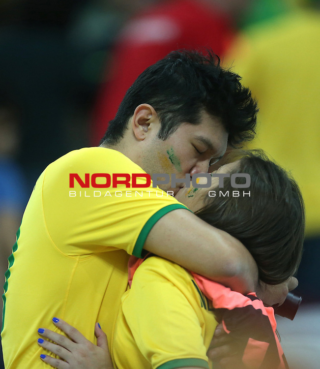 2014 Fifa World Cup opening game from group A against Brazil and Croatia.<br /> Kiss of brazilian supporters<br /> <br /> Foto &copy;  nph / PIXSELL / Sajin Strukic