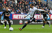 Bolton Wanderers' Adam Le Fondre scores from the penalty shot<br /> <br /> Photographer Andrew Kearns/CameraSport<br /> <br /> The EFL Sky Bet Championship - Bolton Wanderers v Leeds United - Sunday 6th August 2017 - Macron Stadium - Bolton<br /> <br /> World Copyright &copy; 2017 CameraSport. All rights reserved. 43 Linden Ave. Countesthorpe. Leicester. England. LE8 5PG - Tel: +44 (0) 116 277 4147 - admin@camerasport.com - www.camerasport.com