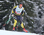 Athletes competes during the FIS Ski World Cup 1.3 Km Sprint Free qualification, on February 2, 2014 in Dobbiaco, Toblach.<br /> <br /> &copy; Pierre Teyssot