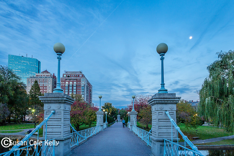 Victorian bridge in the Boston Public Garden, Boston, Massachusetts, USA