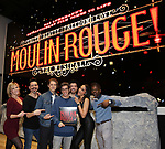 """Robyn Hurder, Ricky Rojas, Aaron Tveit, Justin Levine, Tam Mutu, Karen Olivo and Sahr Ngaujah during the """"Moulin Rouge! The Musical"""" - Vinyl Release signing at Sony Square on December 13, 2019 in New York City."""