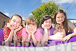 HAVING FUN IN THE SUN: Enjoying fabulous weather and games at the KDYS Listowel summer camps last week were: Deirdre Hunt, Elena McElligott, Megan Canty and Meabh Trench.