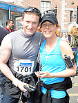 Anthony Morgan and Claire Casey who took part in the Boyne 10K run. Photo: Colin Bell/pressphotos.ie