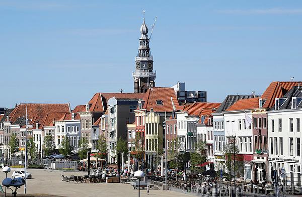 Smallekade in Vlissingen. Grote of Sint Jacobskerk