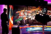 Karan Thapar hosting The Last Word on CNN-IBN in Studio 1 on 3rd December 2010. Photo by Suzanne Lee