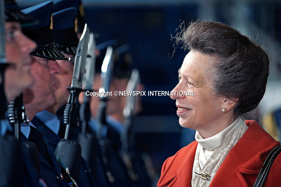 PRINCESS ANNE <br /> the Princess Royal, Honorary Air Commodore, presented a new standard to 101 Squadron at RAF Brize Norton, Oxfordshire_18/09/2013<br /> Mandatory Credit Photo: &copy;SAC Farrer/NEWSPIX INTERNATIONAL<br /> <br /> **ALL FEES PAYABLE TO: &quot;NEWSPIX INTERNATIONAL&quot;**<br /> <br /> IMMEDIATE CONFIRMATION OF USAGE REQUIRED:<br /> Newspix International, 31 Chinnery Hill, Bishop's Stortford, ENGLAND CM23 3PS<br /> Tel:+441279 324672  ; Fax: +441279656877<br /> Mobile:  07775681153<br /> e-mail: info@newspixinternational.co.uk