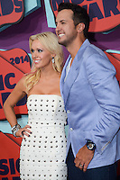NASHVILLE, TN, USA - JUNE 04: Caroline Bryan, Luke Bryan at the 2014 CMT Music Awards held at the Bridgestone Arena on June 4, 2014 in Nashville, Tennessee, United States. (Photo by Celebrity Monitor)