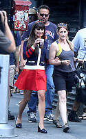 August 12, 2012 Lea Michele shooting on location for  Glee at City Hall Park  in New York City.Credit:© RW/MediaPunch Inc. /NortePHOTO.com