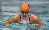 Jessica Whang of Great Neck South surfaces during the 100-yard breaststroke event in the Nassau County girls swimming championships and state qualifier meet at Nassau Aquatic Center in East Meadow on Saturday, Nov. 3, 2018. She won the event with a time of 1:03.09.