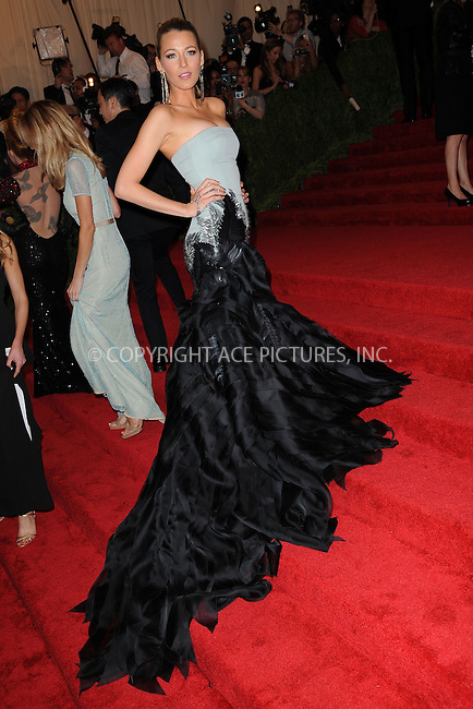 WWW.ACEPIXS.COM . . . . . .May 6, 2013...New York City....Blake Lively attending the PUNK: Chaos to Couture Costume Institute Benefit Gala at The Metropolitan Museum of Art in New York City on May 6, 2013  in New York City ....Please byline: Kristin Callahan...ACEPIXS.COM...Ace Pictures, Inc: ..tel: (212) 243 8787 or (646) 769 0430..e-mail: info@acepixs.com..web: http://www.acepixs.com .