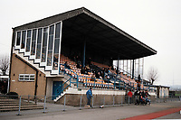 The main stand at Croydon FC Football Ground, Croydon Sports Arena, South Norwood, London, pictured on 24th March 1996