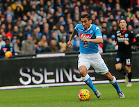 Napoli's Miguel Allan  during the  italian serie a soccer match,between SSC Napoli and Empoli      at  the San  Paolo   stadium in Naples  Italy , January 31, 2016