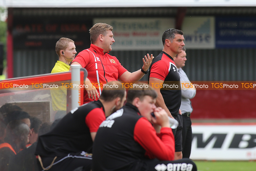 MK Dons Manager, Karl Robinson, shows his frustration during Stevenage vs MK Dons, Friendly Match Football at the Lamex Stadium on 30th July 2016